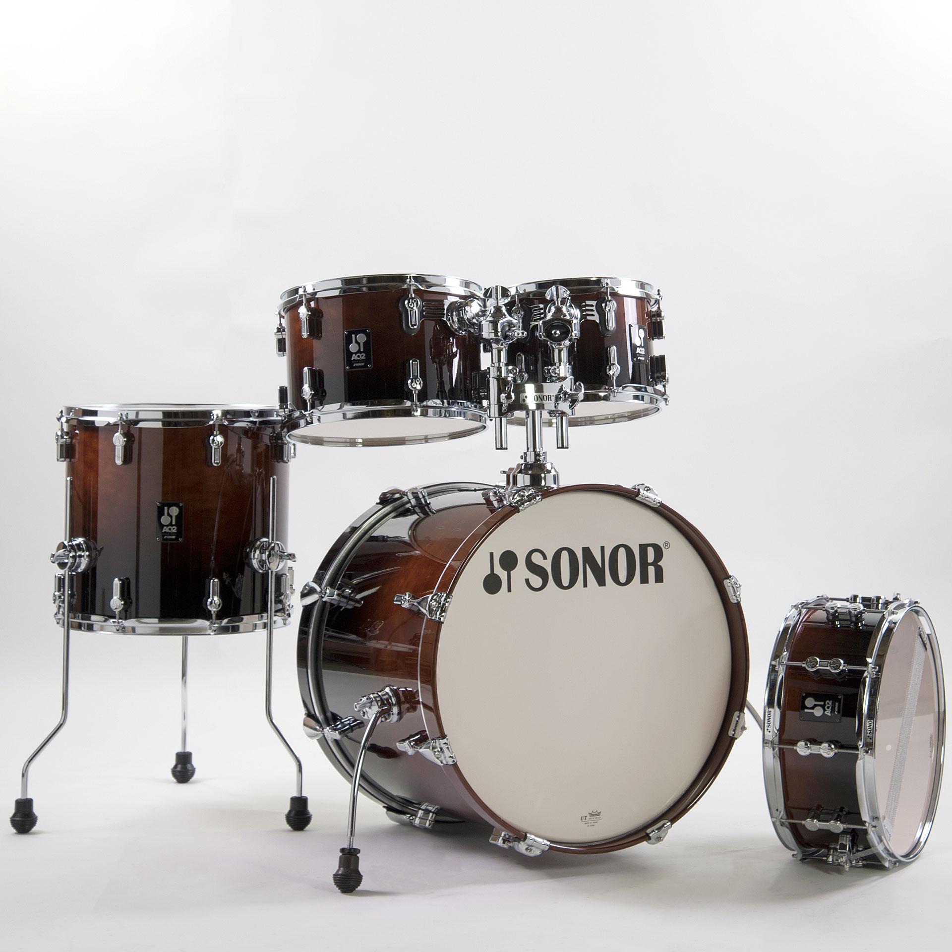 Sonor Aq2 20 Quot Brown Fade Studio Drumset 171 Schlagzeug