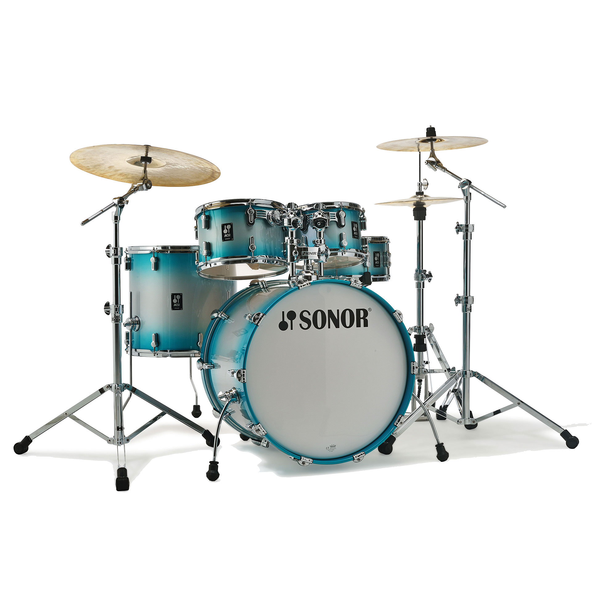 Sonor Aq2 20 Quot Aqua Silver Burst Studio Drumset 171 Drum Kit