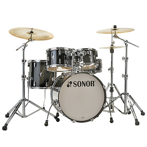"Schlagzeug Sonor AQ2 20"" Transparent Black Studio Drumset"