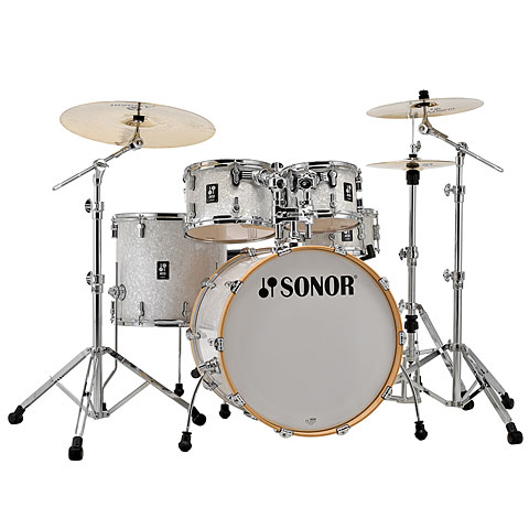 "Sonor AQ2 22"" White Pearl Stage Drumset"