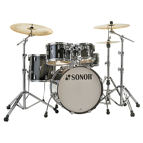 "Sonor AQ2 22"" Transparent Black Stage Drumset"
