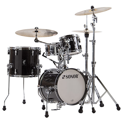 "Sonor AQ2 14"" Transparent Black Martini Drumset"