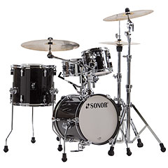 "Sonor AQ2 14"" Transparent Black Martini Drumset « Drum Kit"