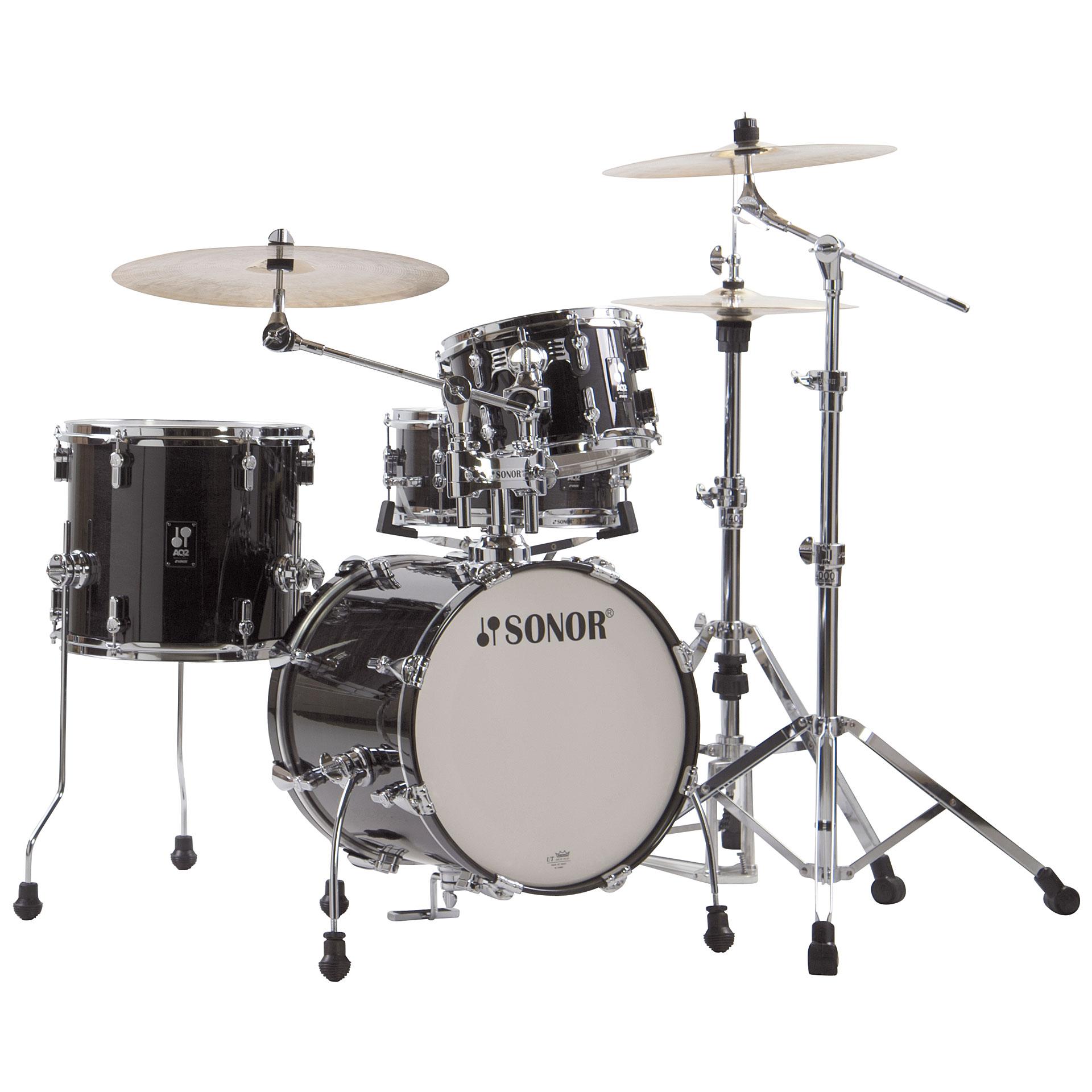 Schlagzeug Sonor AQ2 16 Transparent Black Safari Drumset