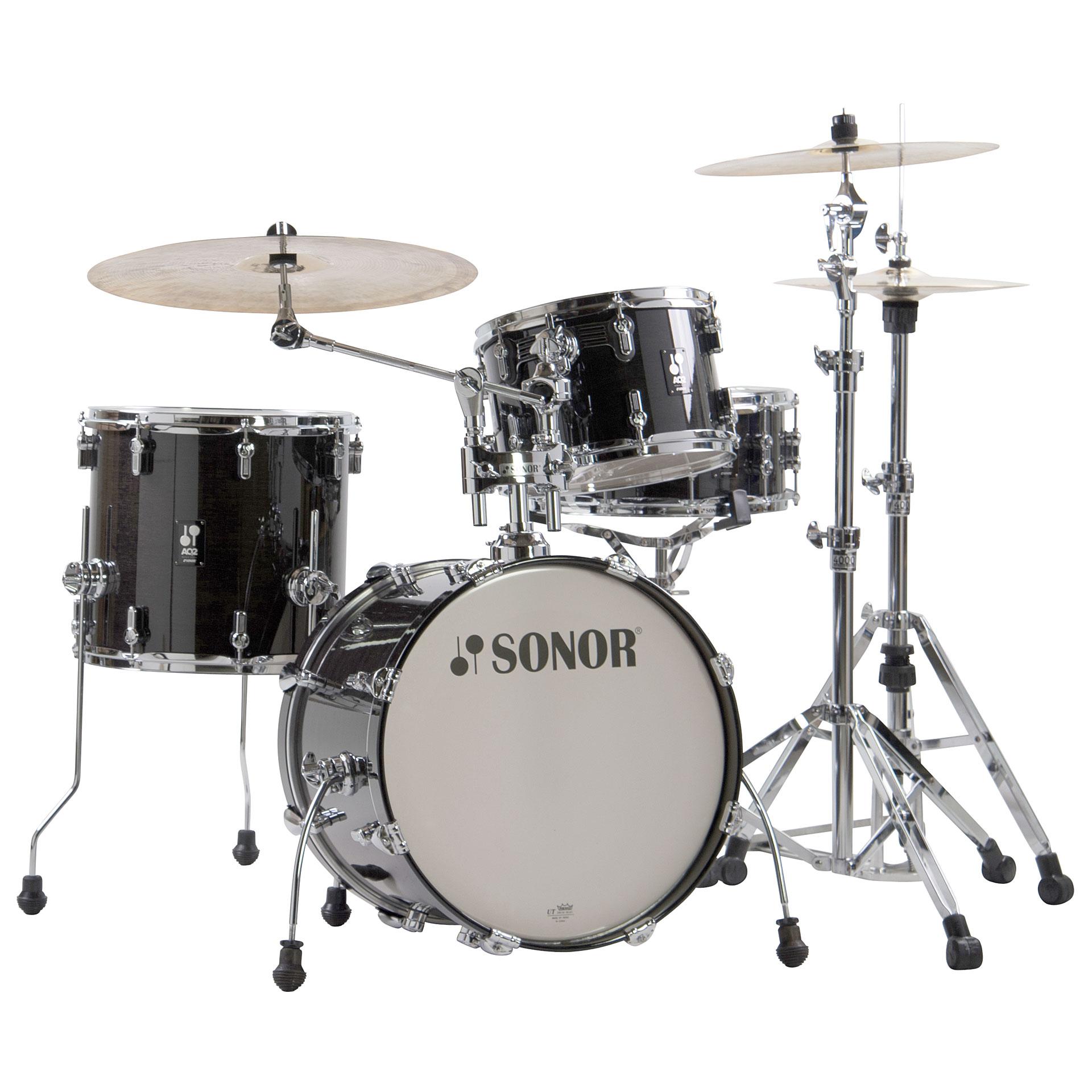 Schlagzeug Sonor AQ2 18 Transparent Black Bop Drumset