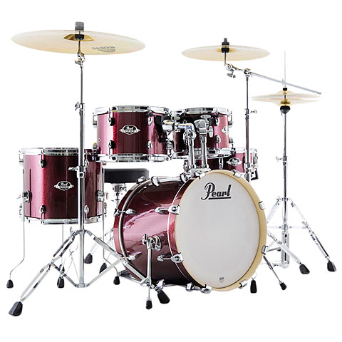 Pearl Export18  Black Cherry Glitter Compact Drumset