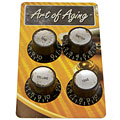 Bouton potentiomètre Crazyparts Art of Aging '60s Reflectorheads Black, Aged 4x