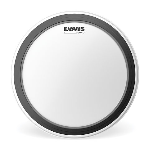 "Bass-Drum-Fell Evans EMAD Coated 24"" Bass Drum Head"