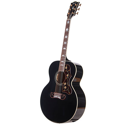 gibson sj 200 ebony 10100314 acoustic guitar. Black Bedroom Furniture Sets. Home Design Ideas