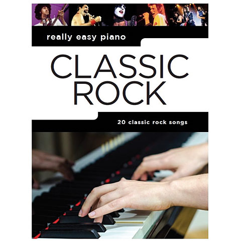 Libro de partituras Music Sales Really Easy Piano - Classic Rock - 20 Classic Rock Songs