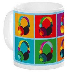 Music Sales Keramikbecher Headphones Mug « Tazza da caffè