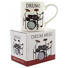 Little Snoring Music Words Mug - Drums