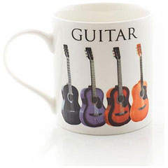 Little Snoring Music Words Mug - Acoustic Guitar