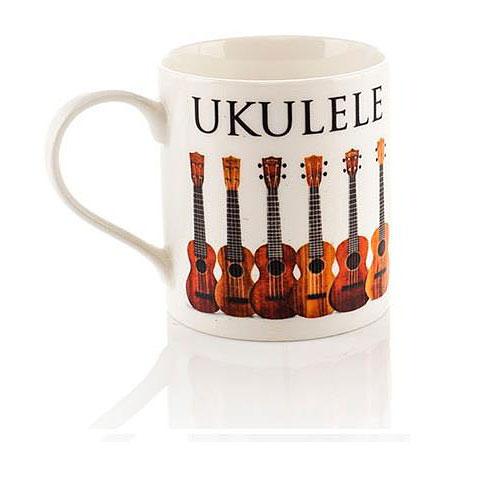 Tazas Little Snoring Music Words Mug - Ukulele