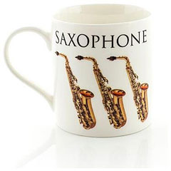 Little Snoring Music Words Mug - Saxophone