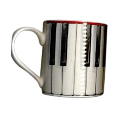 Music Sales Keramikbecher Piano Keys Mug « Kaffeetasse