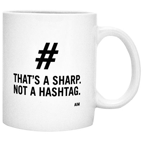Kaffeetasse AIM Gifts That´s A Sharp Not A Hashtag Mug