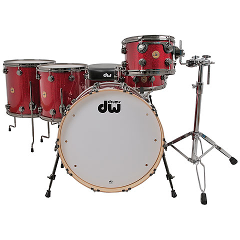 DW Jazz Series Finish Ply 22  Ruby Glass Drumset