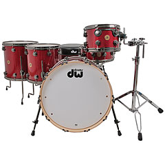 "DW Jazz Series Finish Ply 22"" Ruby Glass Drumset"