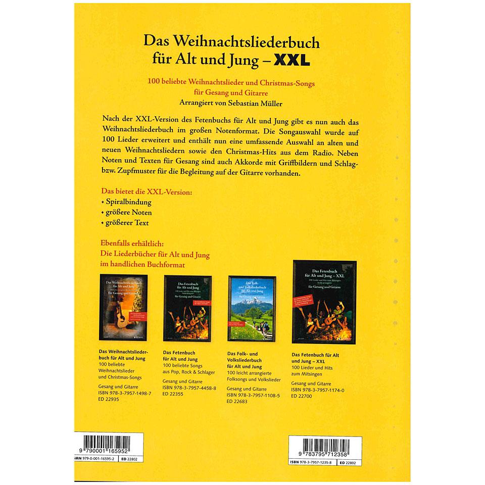 Schott Das Weinhacntsliederbuch für Alt und Jung - XXL
