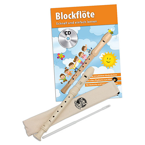 Flauta dulce soprano Cascha Recorder-Set, german finger style