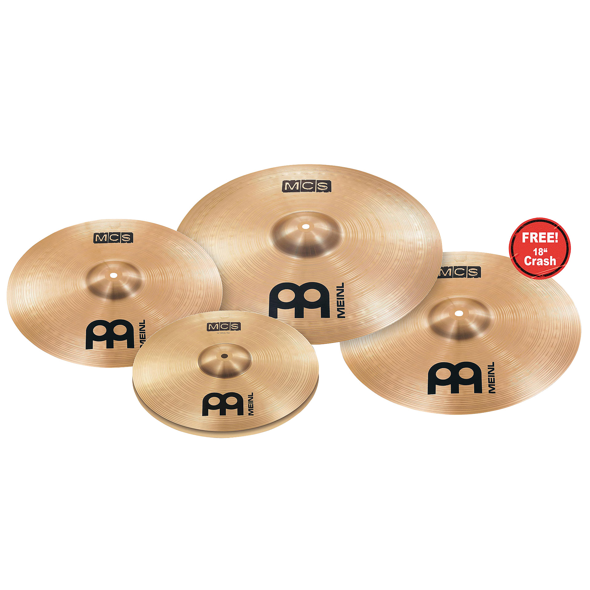 meinl mcs complete cymbal set up 18 crash cymbal set. Black Bedroom Furniture Sets. Home Design Ideas