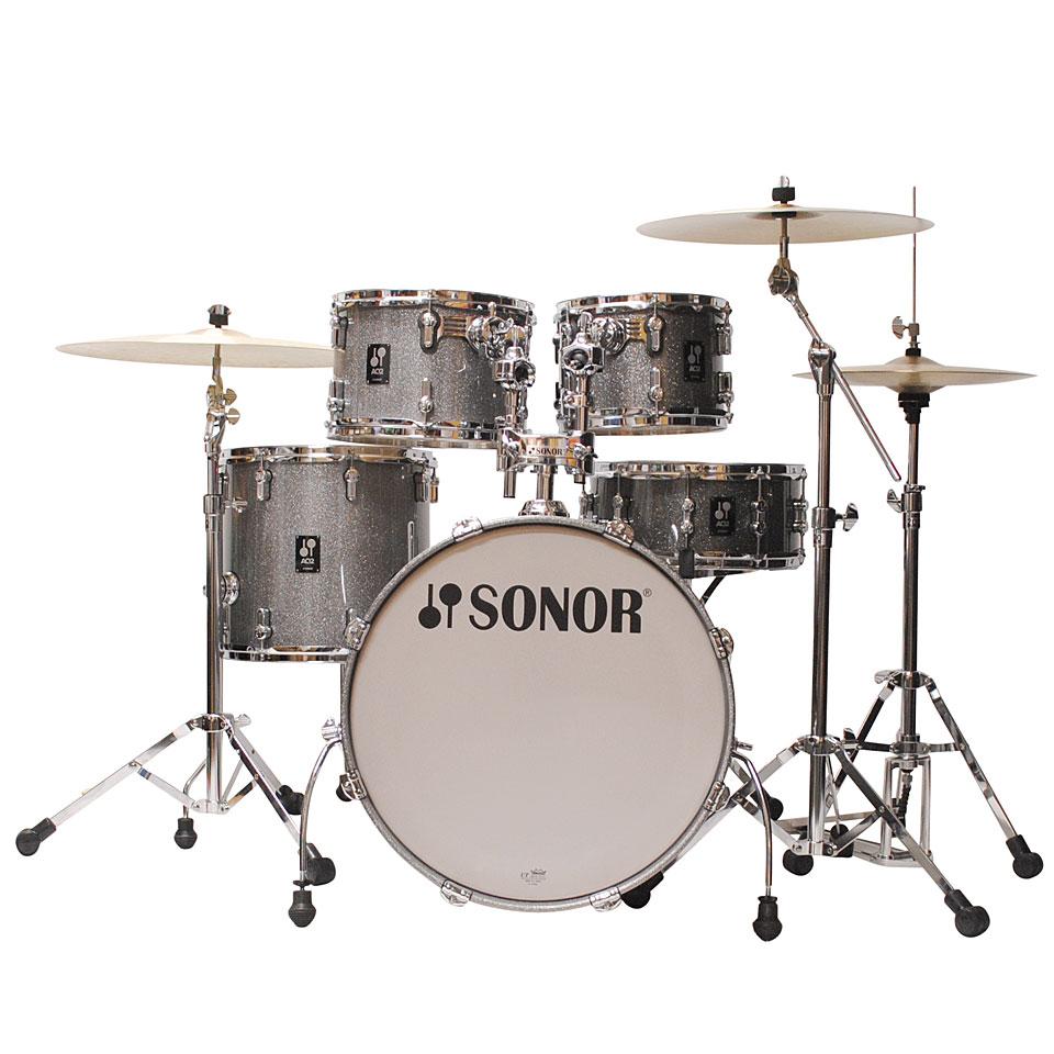 Sonor Aq2 20 Quot Titanium Quartz Studio Drumset 171 Drum Kit