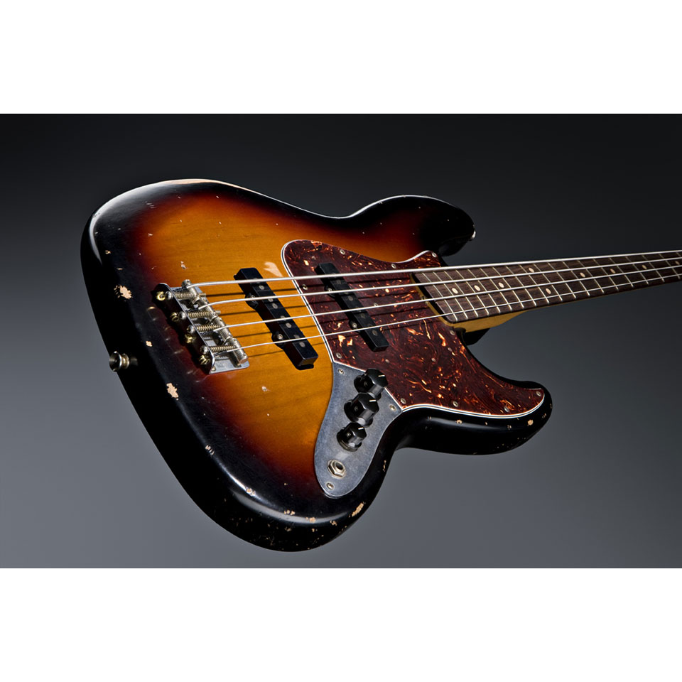Electric Bass Guitar Fender Road Worn 60s Jazzbass 3TSB PF 3