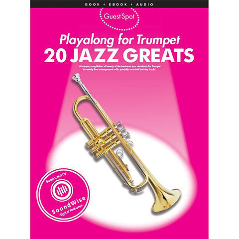 Play-Along Music Sales 20 Jazz Greats - Playalong for Trumpet