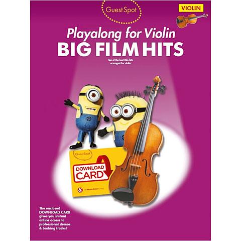 Music Sales Big Fim Hits for violin