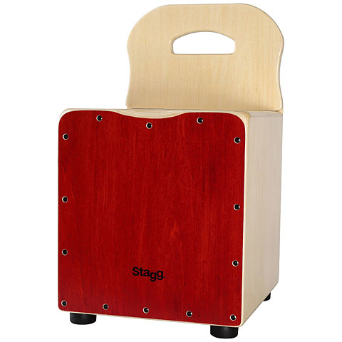 Stagg Red Kids Cajon with Easygo Backrest