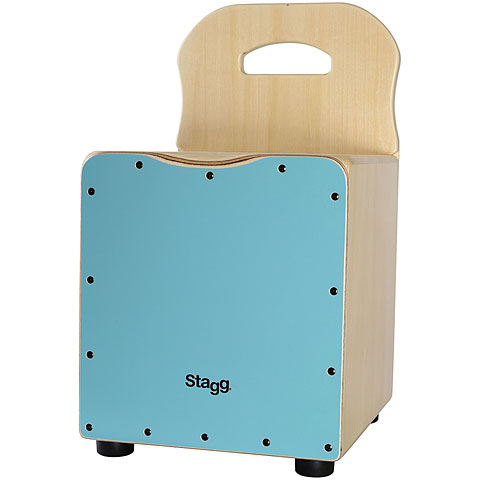 Stagg Blue Kids Cajon with Easygo Backrest
