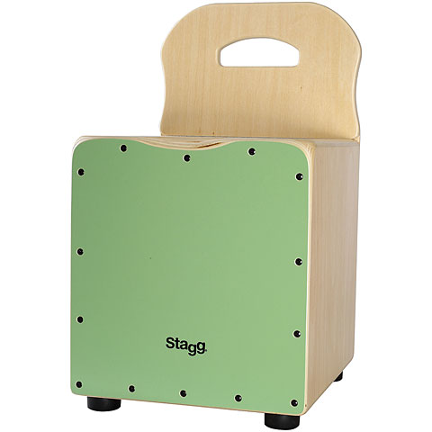 Stagg Green Kids Cajon with Easygo Backrest