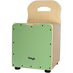 Stagg Green Kids Cajon with Easygo Backrest « Cajon
