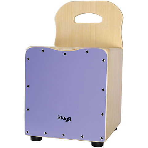 Stagg Purple Kids Cajon with Easygo Backrest