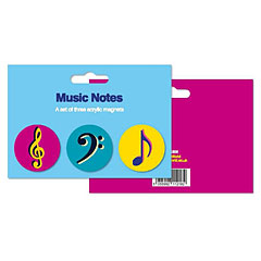 My World Set of 3 Magnets - Music Notes « Imán