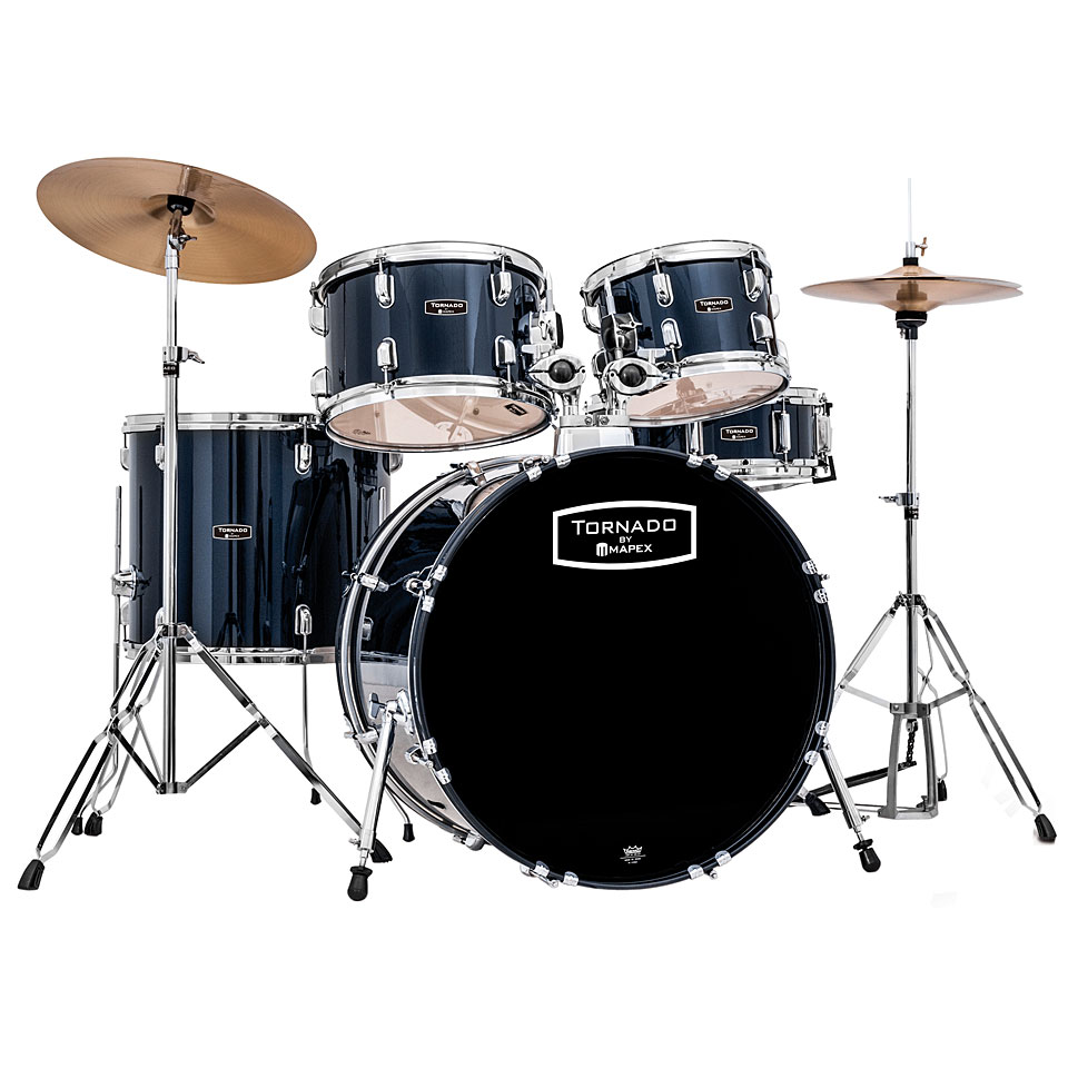 mapex tornado 22 royal blue drum set drum kit