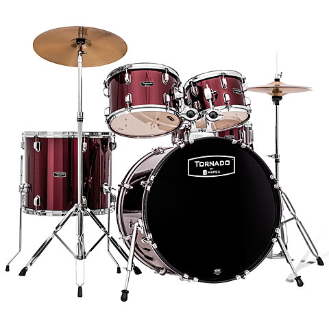 Mapex Tornado 22  Dark Red Drum Set