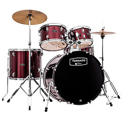 "Mapex Tornado 22"" Dark Red Drum Set « Batería"