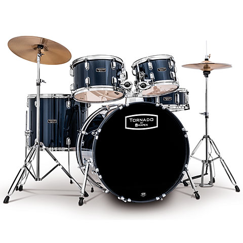 "Batterie acoustique Mapex Tornado 20"" Royal Blue Drum Set"