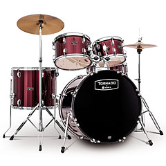"Mapex Tornado 20"" Dark Red Drum Set « Drum Kit"