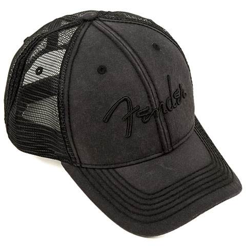 Fender Blackout Trucker Hat, One Size