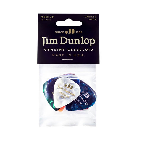 Dunlop Variety Celluloid Medium (12Stck)