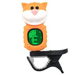 "Swiff B72 Clip On Tuner ""Cat"" Yellow « Afinador"