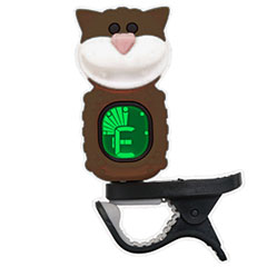 "Swiff B72 Clip On Tuner ""Cat"" Brown « Afinador"