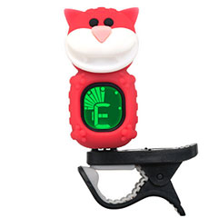 "Swiff B72 Clip On Tuner ""Cat"" Red « Afinador"