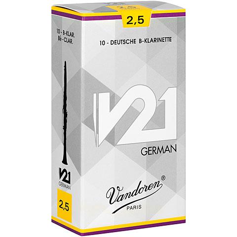 Blätter Vandoren V21 Clarinet German 2,5 Tradition