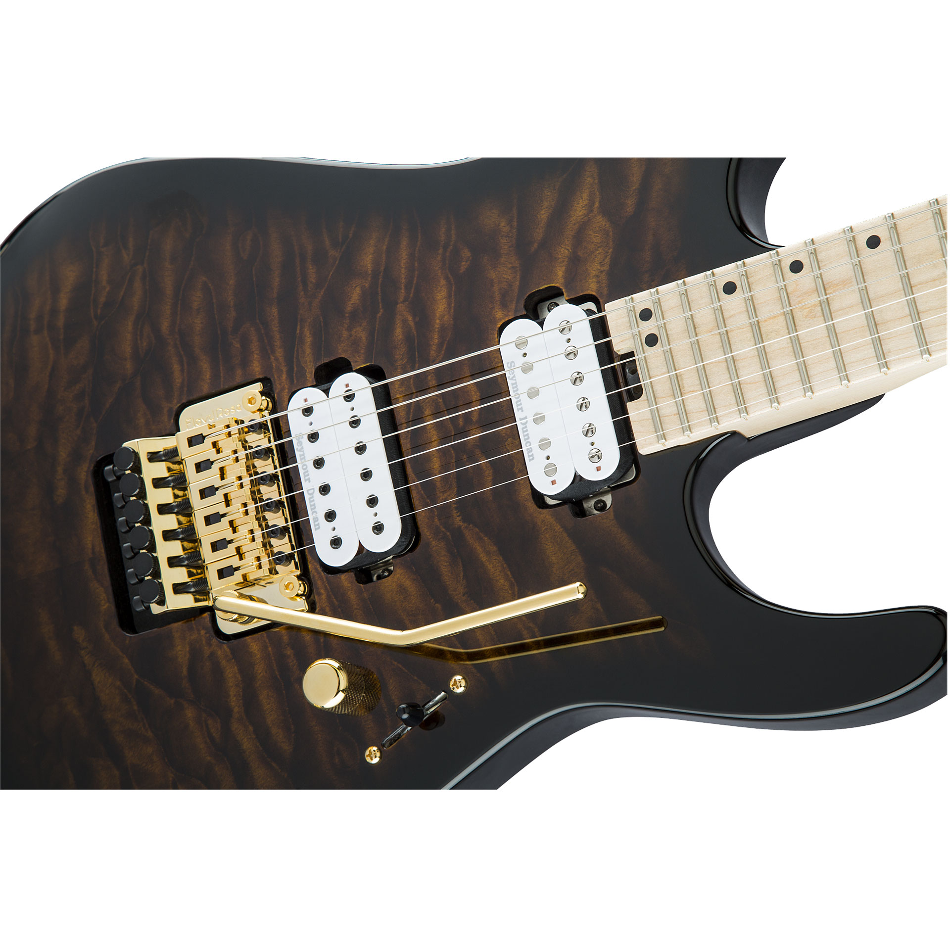charvel pro mod dk24 hh fr m qm rbb electric guitar. Black Bedroom Furniture Sets. Home Design Ideas