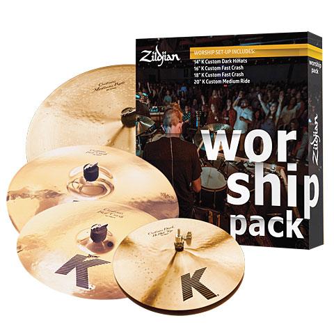 Zildjian K Custom Worship Pack 14HH/16C/18C/20R