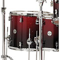 Batterie acoustique pdp Concept Maple CM7 Red to Black Sparkle Fade